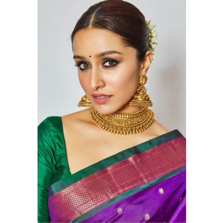 Shraddha Kapoor wears one of her mom's saree for Diwali this year!