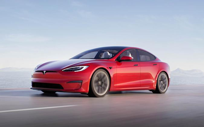 Tesla shows off 'kick-ass' Model S Plaid EV performance
