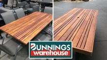 Bunnings shoppers create stunning tables using surprise item