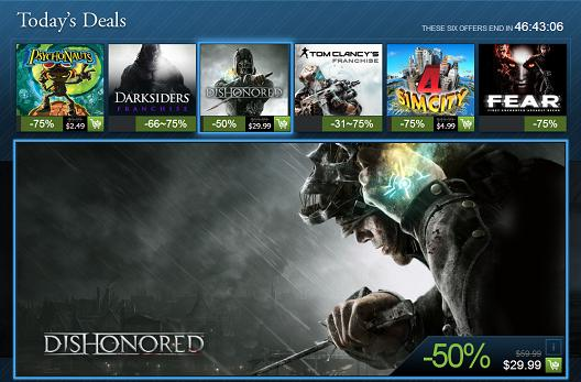 Steam Holiday Sale continues with Dishonored, Future Soldier, Darksiders franchise and more