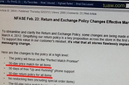 Best Buy to simplify return policy: 30 days, all products (including iPad)