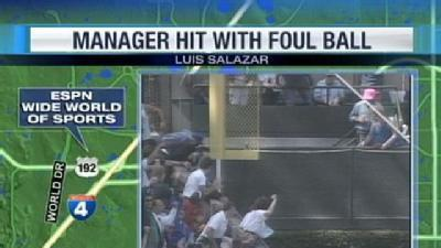 Ball Hits Braves Minor League Manager In Face At Disney