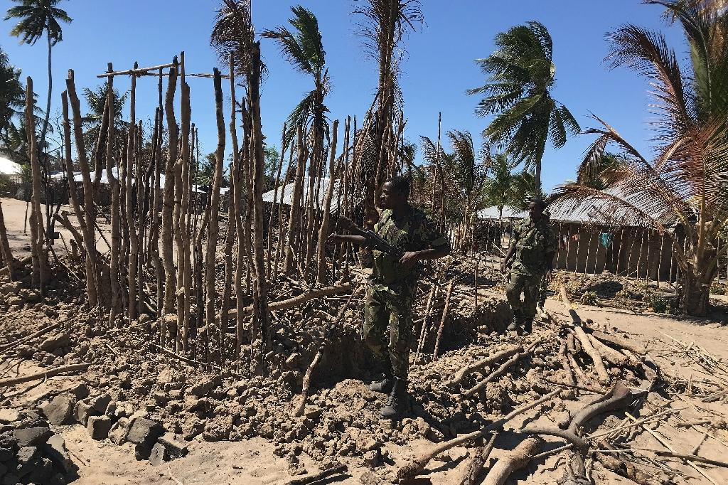 Torched: Aftermath of an attack on the village of Naunde, northern Mozambique, last June