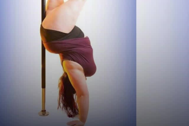 Pole dancing helps plus-size student love her body