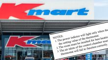 Kmart shoppers spot hilarious typo in product instructions