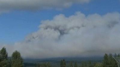 Wildfire Spreads Near Portland, Oregon