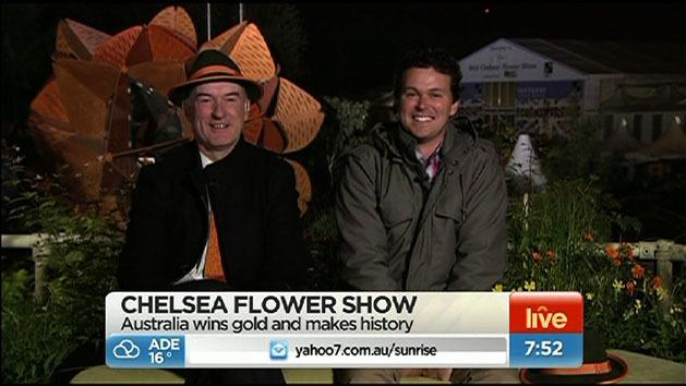 Aussies celebrate flower show win