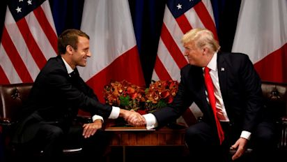 Emmanuel Macron, the 'Trump Whisperer', says there is no Plan B on Iran as he travels to Washington