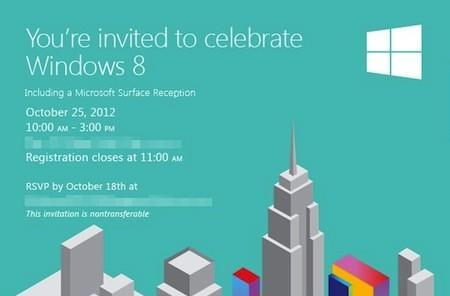 Windows 8 launch event gets real, the celebration starts October 25th