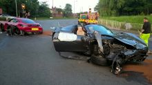 One expensive crash! Two supercars worth combined £300k in horror smash