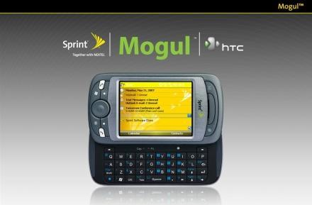 Slide deck surfaces for Sprint's HTC Mogul