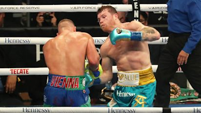 Canelo gets TKO, calls out Plant as next opponent