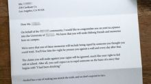This college acceptance letter tells the hard truth about sexual assaults on campus
