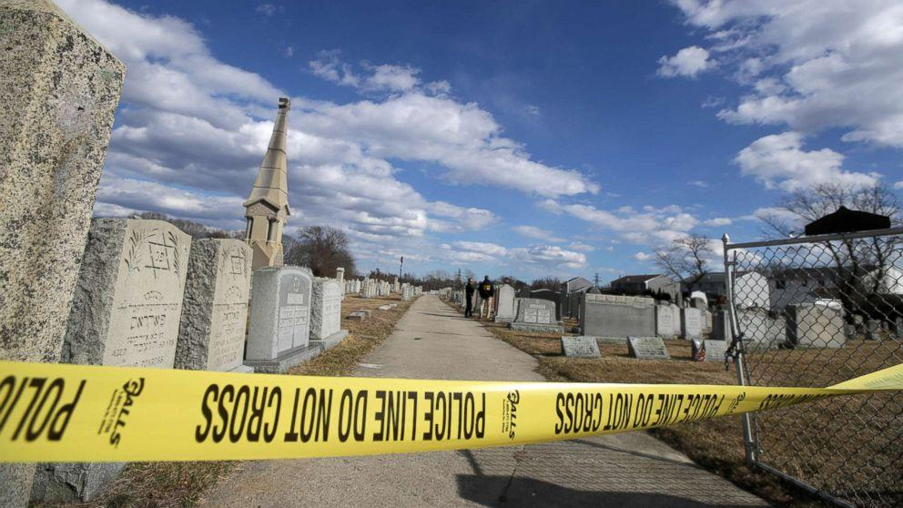 Jewish cemetery headstones defaced with swastikas, anti-Semitic
