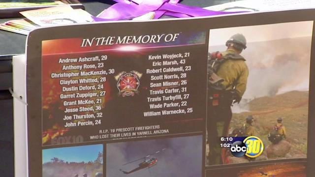 Valley residents send cards to fallen firefighters