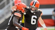 Baker Mayfield, Myles Garrett, react to Browns having first winning record since 2014