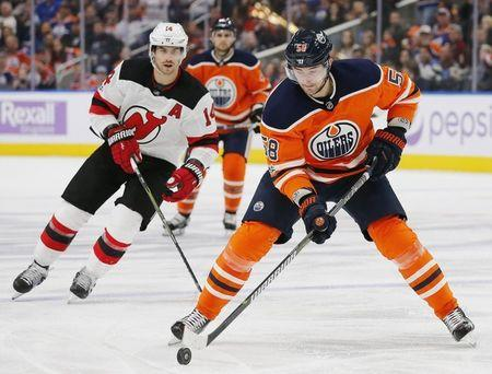 FILE PHOTO: NHL - New Jersey Devils at Edmonton Oilers