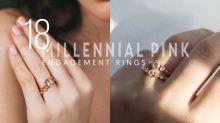 若嫌鑽石太普通的話,那這種 Millennial Pink 的訂婚戒指必定會是你杯茶!