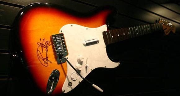 Roger Daltrey-signed guitar periphs auctioned for Teenage Cancer Trust