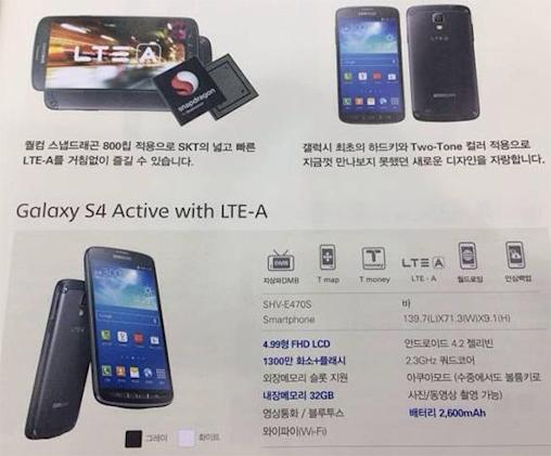 South Korea may get a Galaxy S 4 Active with LTE-A, processor and camera upgrades