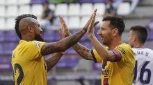 Vidal goal maintains Barca's La Liga push