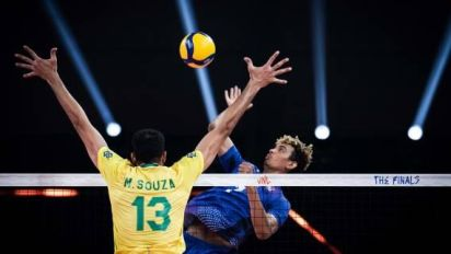 Volley - LDN - Pas de finale de Ligue des nations pour la France, battue par le Brésil