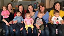 Five friends who struggled to fall pregnant have babies within weeks of each other