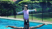 Mira a la hija de Adamari López y Toni Costa bailando hasta sin música; ¡qué ternura!