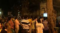 Frustrated fans take in Brazil-Mexico match