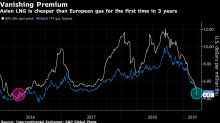 Asia's Vanishing Gas Premium Leaves Europe as Swing Buyer