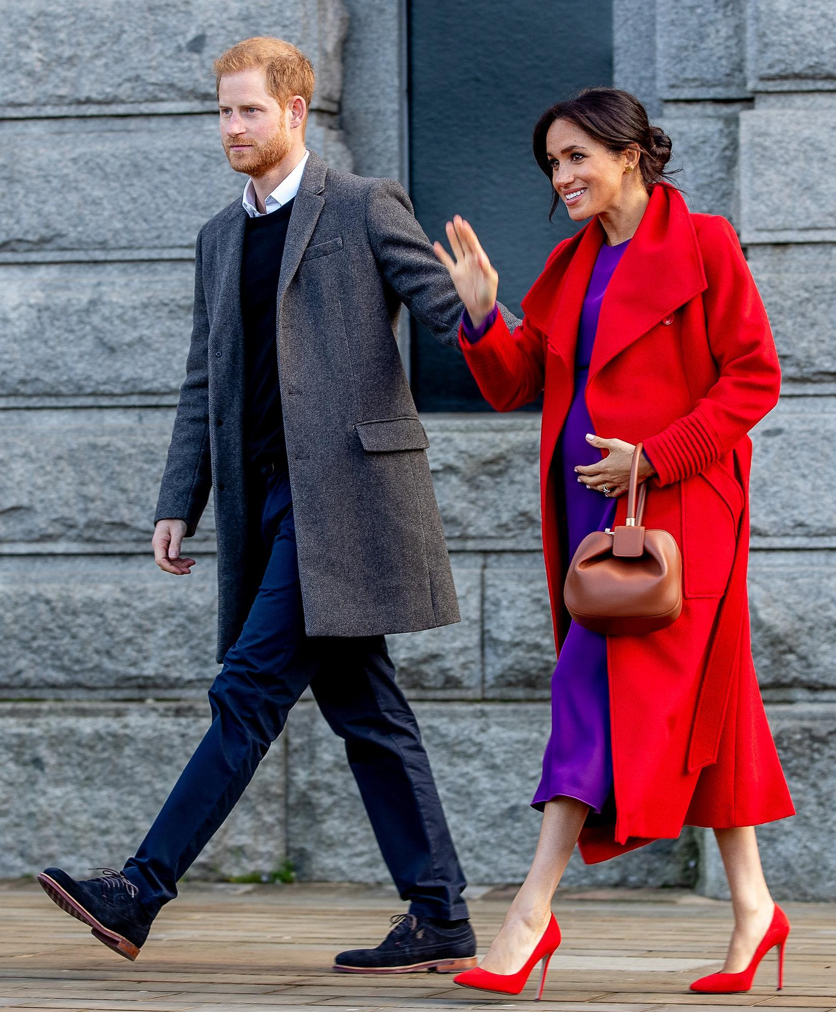 The Duke and Duchess of Sussex depart Hamilton Square in Birkenhead, following a walkabout and a visit to a new sculpture marking the 100th anniversary of war poet Wilfred Owen�s death.