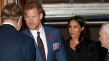 Meghan Markle and Prince Harry Step Out With Kate Middleton and Prince William for Remembrance Day
