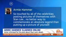Armie Hammer slammed for post about Stan Lee