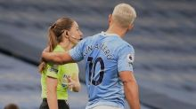 Sergio Aguero: Pep Guardiola defends Manchester City striker after incident with Sian Massey-Ellis