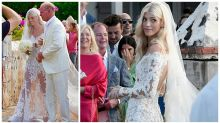 Victoria's Secret model marries in sheer lace wedding dress