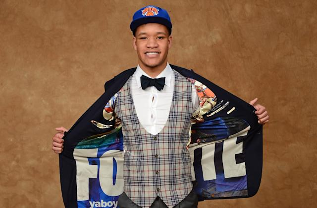 New York Knicks top pick wore a 'Fortnite' suit to the draft
