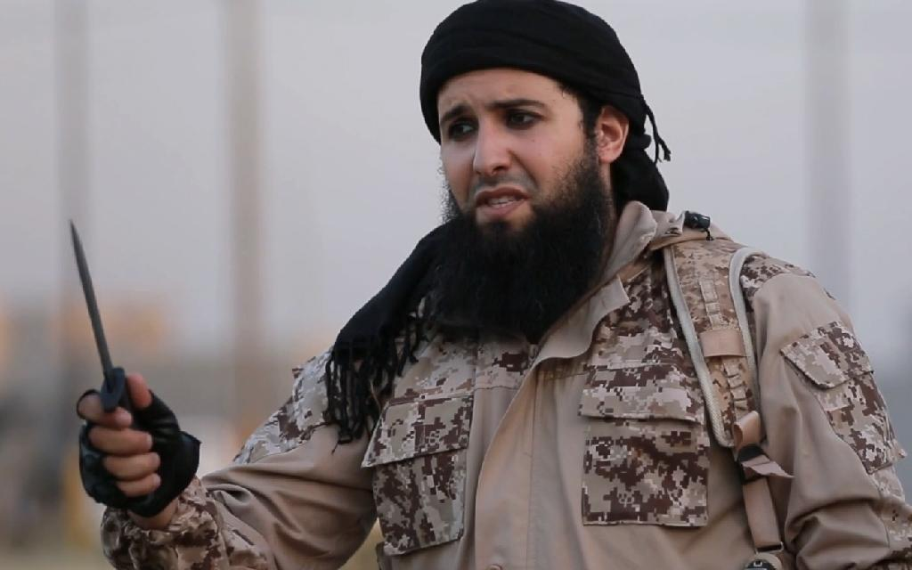 French-born jihadist and IS member Rachid Kassim, seen here in an Islamic State group propaganda video, is suspected of using the encrypted Telegram app to direct attacks on France from IS-controlled territory in Iraq or Syria