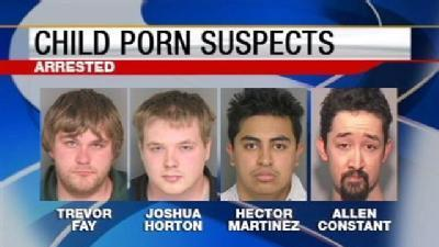 Child Porn Sweep Nets Four People