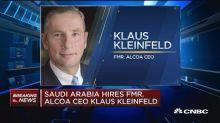 Saudi Arabia hires former Alcoa CEO Klaus Kleinfeld