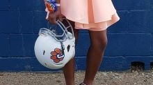 Homecoming queen makes her middle school's football team