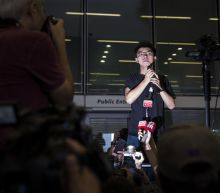 Freed Hong Kong Activist Joshua Wong Addresses Rally on the Day He Is Released From Prison