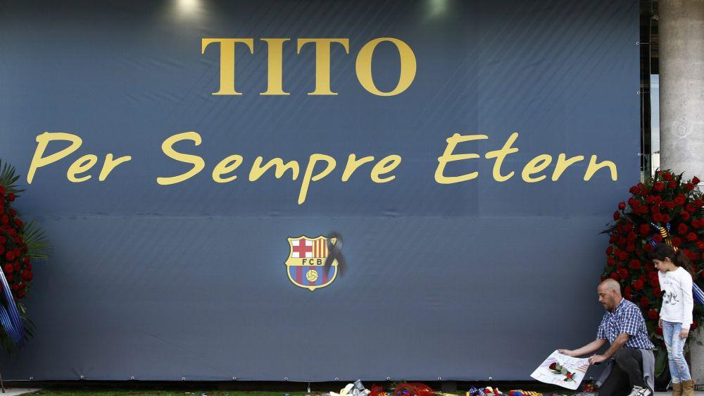 El mundo del fútbol no se olvida de Tito Vilanova