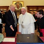 Donald Trump Gave The Pope A Sculpture His Holiness Will Probably Regift