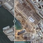 Satellite imagery shows scale of destruction after explosion at Beirut port