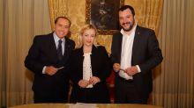 Centrodestra, firmato programma Cav-Salvini-Meloni ma è scontro con Fitto