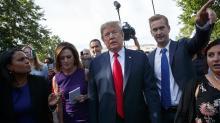 The Latest: Trump hails big tariffs on China