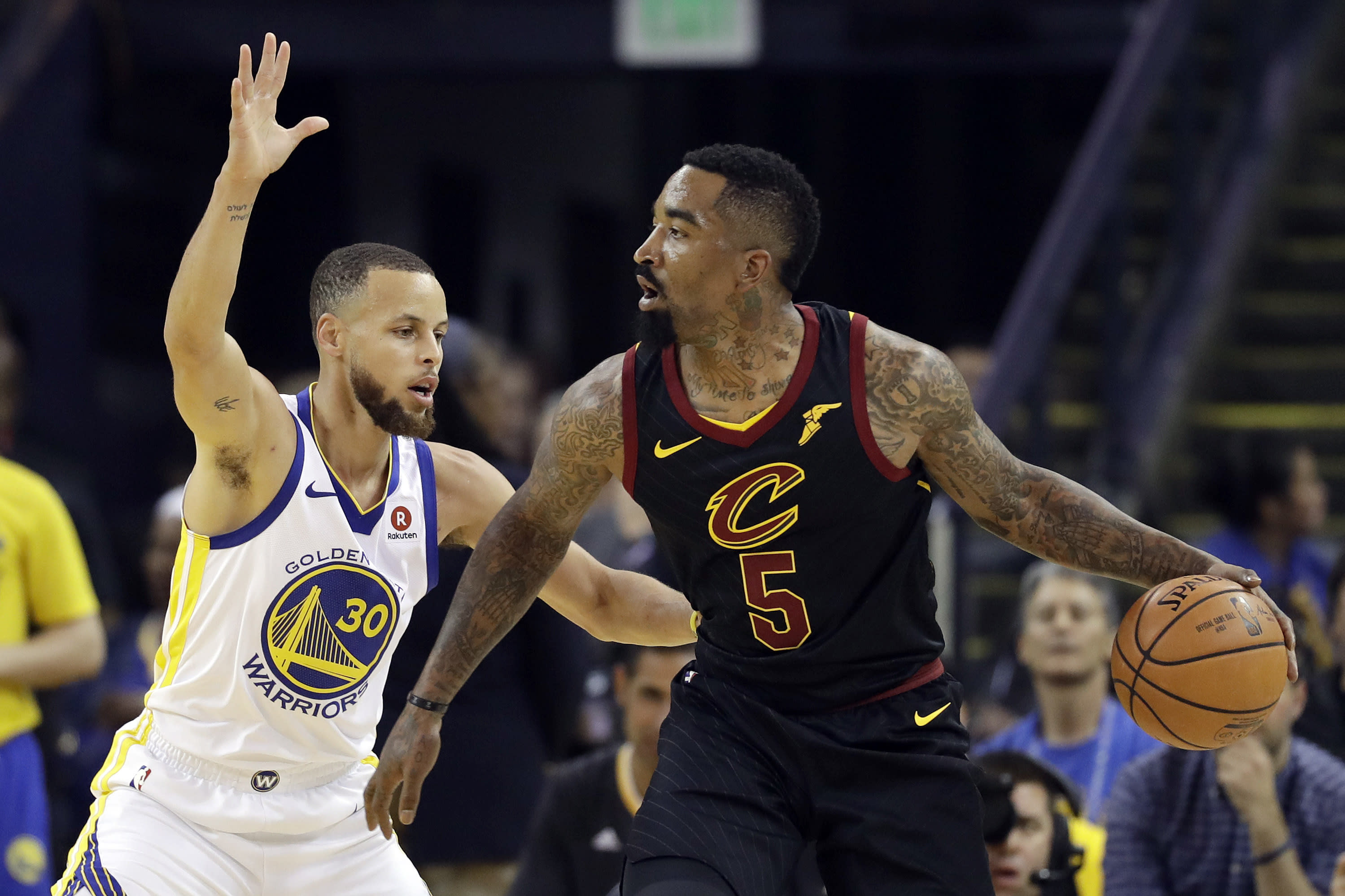 Warriors fans cheer J.R. Smith during NBA Finals Game 2 introductions b7d13e32d