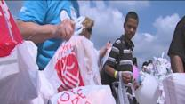 Convoy of Hope pulled into Sapulpa, turnout far exceeded expectations.