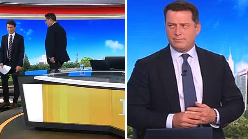 Karl Stefanovic walks off Today set over 'mean' tweet