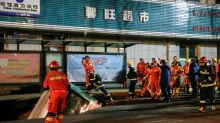 Huge sinkhole swallows bus in China killing six
